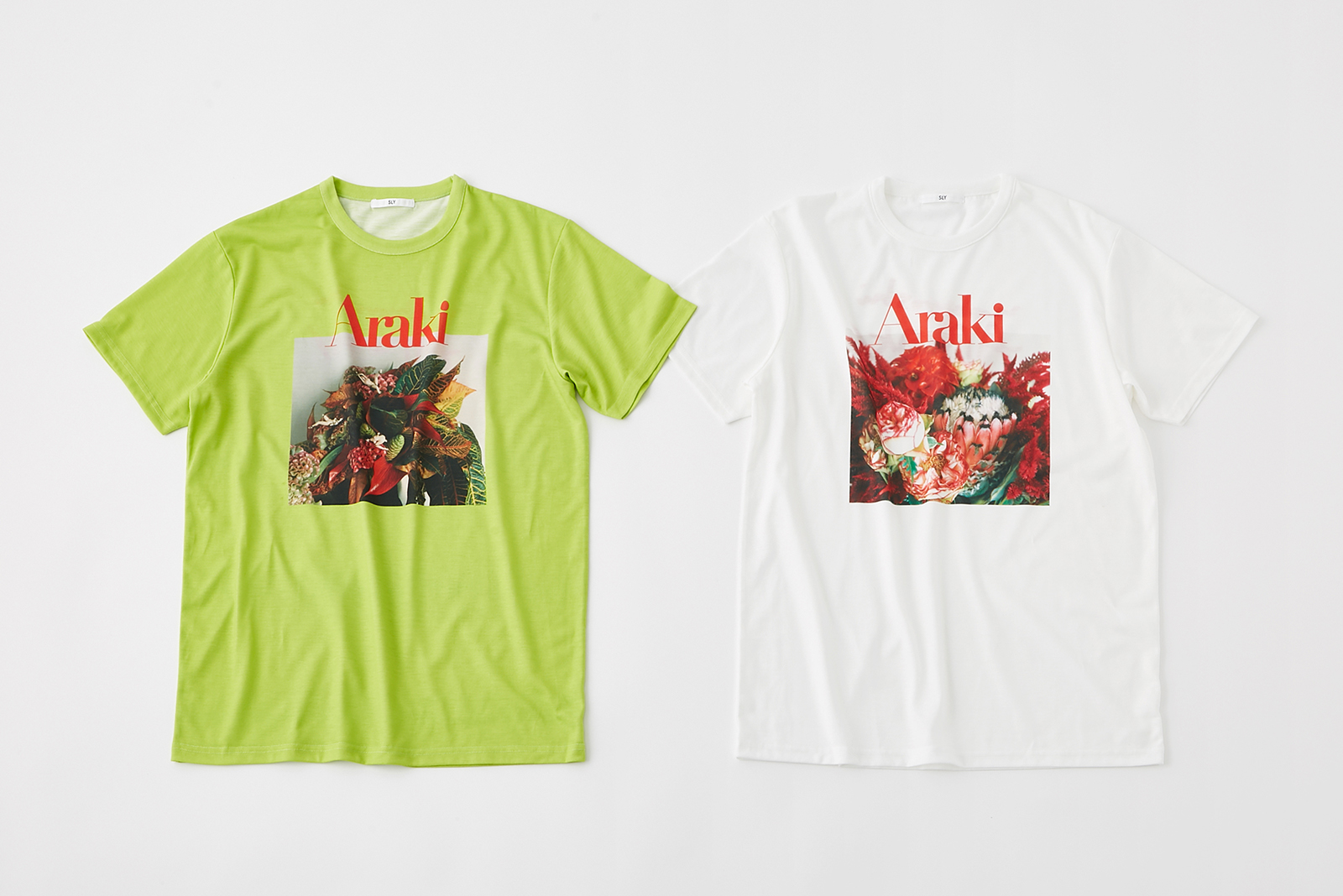 FLOWER PHOTO T-SHIRT¥4,990+税、COLOR:LIGHT、GREEN、WHITE、SIZE:FREE(提供写真)