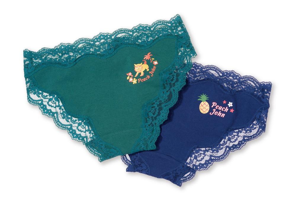 沖縄限定コットンフィットパンティ¥1,480円(+税)サイズ:S、M、L/カラー:ネイビー、フォレスト(全2色展開)(提供写真)