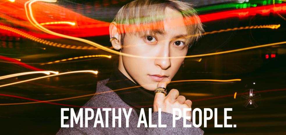 ユニセックスジュエリーブランド「EMPATHY ALL PEOPLE.」のイメージモデルに就任した與真司郎(提供写真)