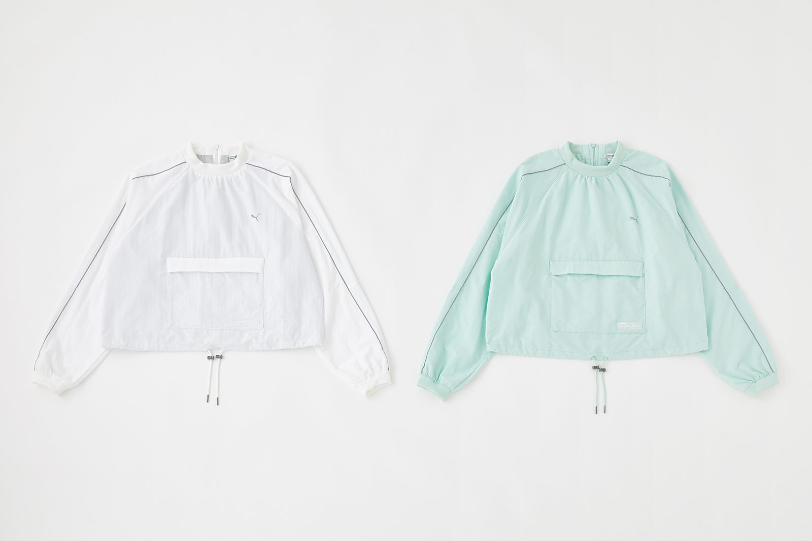PUMA×SLY REFLECT LINE TOPS/¥8,990+税、COLOR:WHITE・MINT、SIZE:S・M(提供写真)