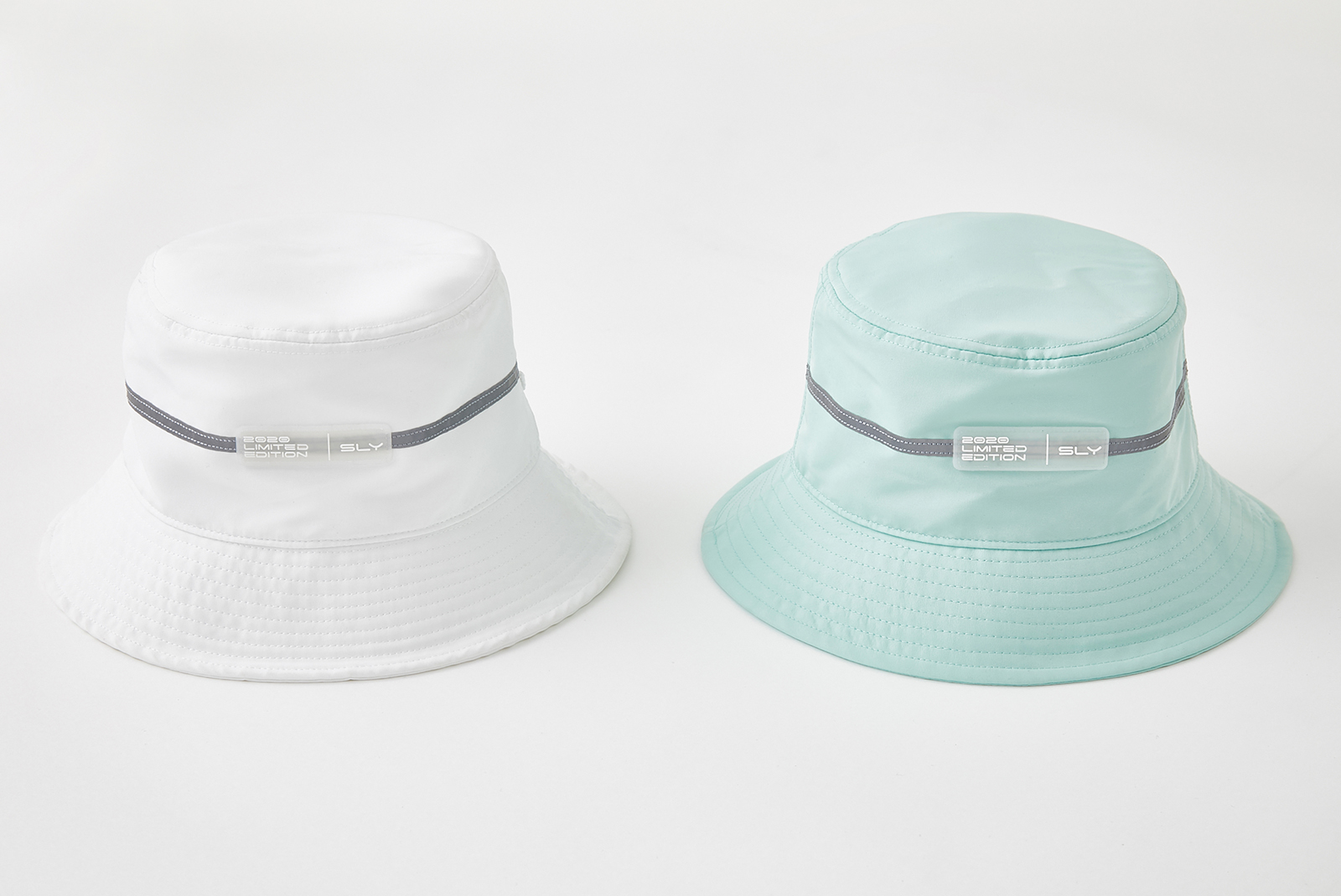 PUMA×SLY REFLECT LINE HAT/¥4,990+税、COLOR:WHITE・MINT、SIZE:FREE(提供写真)