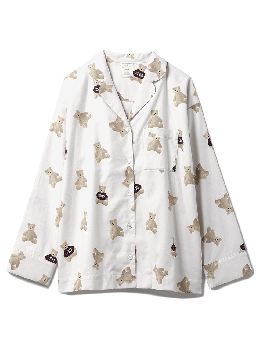 ベアネルシャツパジャマ(提供写真)