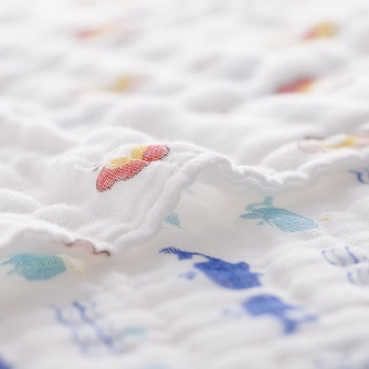 【プレゼント】「Binztec ベビービブ ガーゼタオル」かわいいデザインで洗い替えもたっぷり!