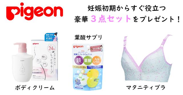 【プレゼント】妊娠初期からすぐ役立つ!ピジョンのマタニティセットをプレゼント!