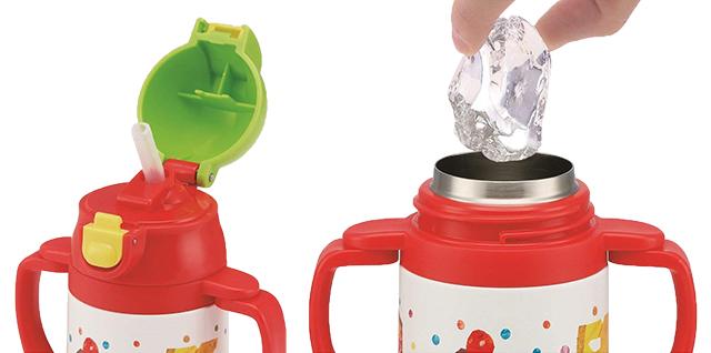 【プレゼント】「はらぺこあおむし ステンレスマグボトル」小さなお子さんも飲みやすいストローマグ!