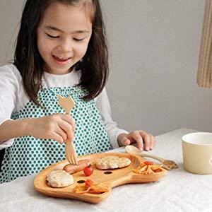 【プレゼント】PETITS ET MAMAN「ぞうのウッドトレイ」毎日の食事が楽しくなる!