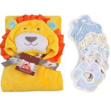 「アニマルバスローブ&ベビービブ6枚セット」ライオンの可愛いバスローブ!