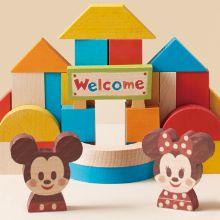【プレゼント】ミッキーたちと遊ぼう!想像力を育む木製玩具「Disney | KIDEA&BLOCK」