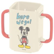 【プレゼント】「ミッキーの折りたたみドリンクホルダー」お茶やジュースをこぼさず飲める!
