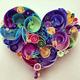 ハートの簡単な折り方《シンプル・立体的・花の装飾》|折り紙動画