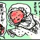 【子育て絵日記4コママンガ】つるちゃんの里帰り|(41)退院の日のベビードレス(0歳0ヶ月頃)