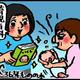 【子育て絵日記4コママンガ】つるちゃんの里帰り|(55)母乳育児失敗の予感(0歳0ヶ月頃)