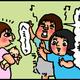 【子育て絵日記4コママンガ】つるちゃんの里帰り|(95)寝かしつけのアドバイス(0歳1ヶ月頃)