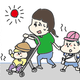 【コメタパン育児絵日記(36)】夏の登園は本当に大変〜ハプニング編〜