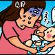 【子育て絵日記4コママンガ】つるちゃんの里帰り|(113)二の腕オッパイ