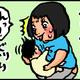 【子育て絵日記4コママンガ】つるちゃんの里帰り|(114)オッパイはどこ?