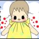 【育児4コマ漫画】今日も1日やっとこさ(7)|手ぬぐい服(上)の作り方