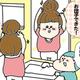 【コメタパン育児絵日記(45)】せっかく上手くお団子ヘアが出来たのに・・・