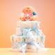 出産祝いに最適!ぶきっちょでもできる簡単おむつケーキの作り方