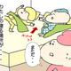 【コメタパン育児絵日記(70)】奪われた!わたしの寝る場所が