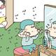【コメタパン育児絵日記(85)】謎の音がする方へ行ってみると・・・