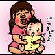 【子育て絵日記4コママンガ】つるちゃんの里帰り|(133)よだれスリスリ