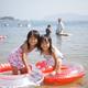 子連れに評判の静波海水浴場!海の家あり、遠浅で水質良し|静岡県
