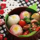 お花のデコ弁レシピ|冬の南天、春の梅や椿をお弁当に閉じ込めて