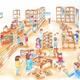 福井県池田町に北陸最大級の屋内木育広場「あそびハウスこどもと森」4月下旬オープン