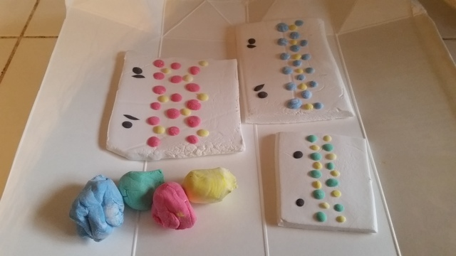 うろこ模様の付け方(オリジナル),粘土,工作,鯉のぼり