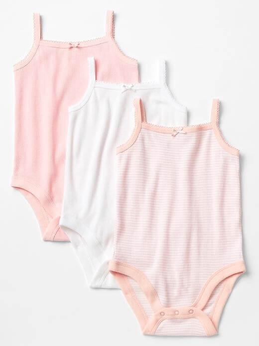 Picot-trim cami bodysuit,キッズ,肌着,おすすめ