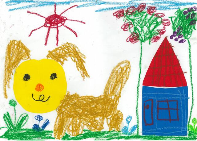 小学校受験の生徒の作品,小学校受験,絵画,折り紙