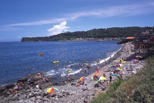 川奈海水浴場,ビーチ,海水浴,静岡県
