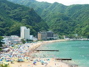 土肥海水浴場,ビーチ,海水浴,静岡県