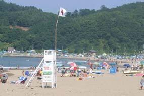 蘭島海水浴場,子ども,北海道,海水浴