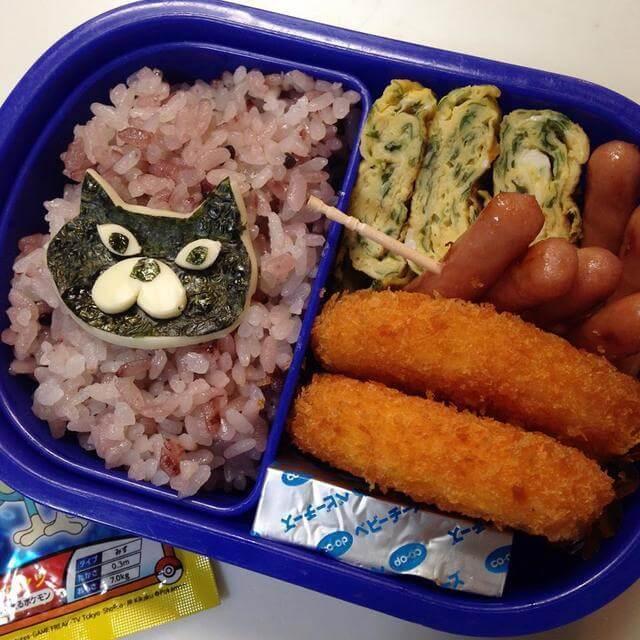黒猫弁当,ぶたまくら,黒米,ごはん