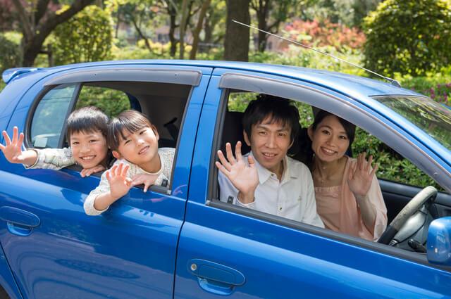 車に乗車中の家族,富士,サファリパーク,静岡
