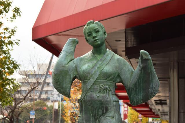 おてもさん像,火の国,まつり,熊本