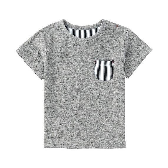 ポケツキT(無地・半袖),ユニクロ,キッズ,Tシャツ