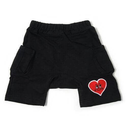 Anak Jujur カーゴ ハーフパンツ ワッペン付き Cargo Half Pants 【ブラック】 【size:100】,ベビー,パンツ,