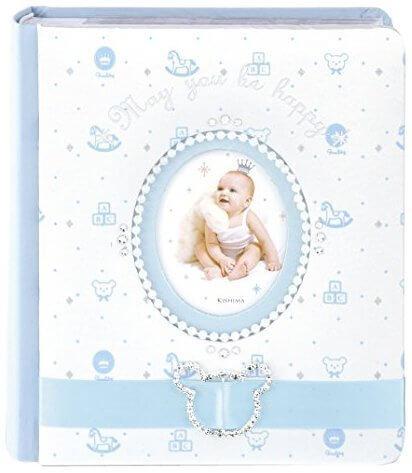 キシマ Kishima ラソワ ベビーアルバム Blue ブルー KP-31157 0ヶ月~36ヶ月 出産祝い,二人目,出産祝い,男の子