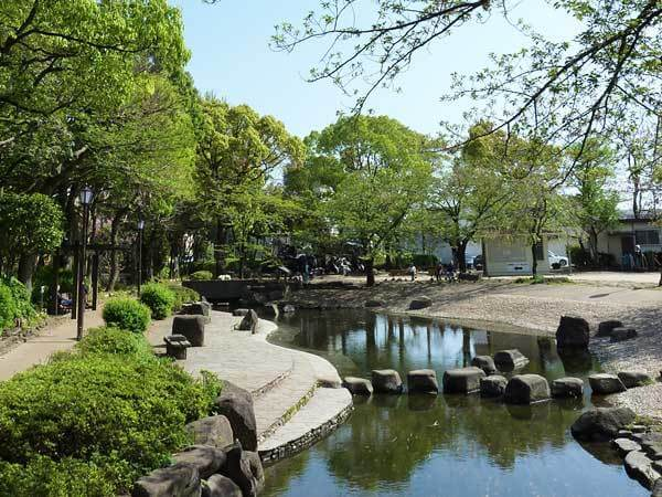 小松川境川親水公園,公園,水遊び,東京