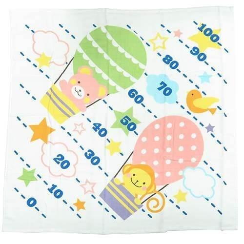 どうぶつと気球[ベビーバスタオル]身長計付き湯上げガーゼタオル 丸眞 赤ちゃん用 出産祝い グッズ 通販,出産祝い,ガーゼタオル,