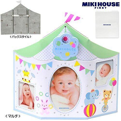 MIKIHOUSE FIRST(ミキハウスファースト)オルゴール付き箱付フォトフレーム ---,マルチ(87),出産祝い,写真立て,