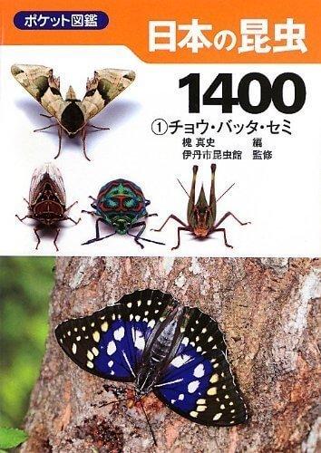 日本の昆虫1400 (1) チョウ・バッタ・セミ (ポケット図鑑),虫,図鑑,