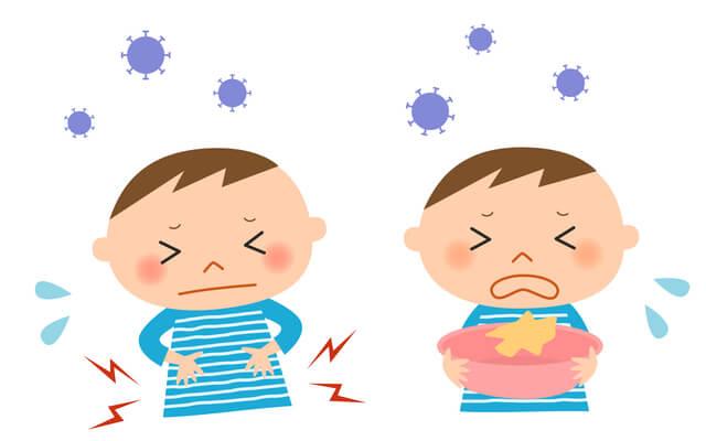 下痢や嘔吐に苦しむ子ども,プール熱,症状,