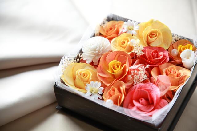 ボックスフラワー,出産祝い,花,