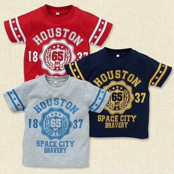 カレッジプリント半袖Tシャツ,西松屋,子供服,