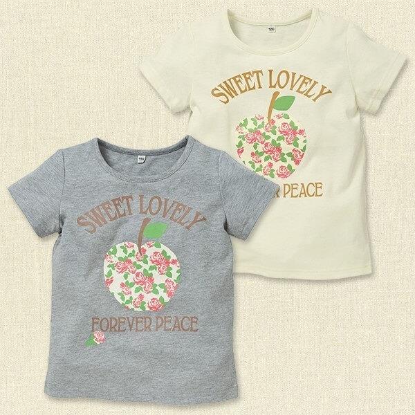 BIGローズアップル半袖Tシャツ,西松屋,子供服,