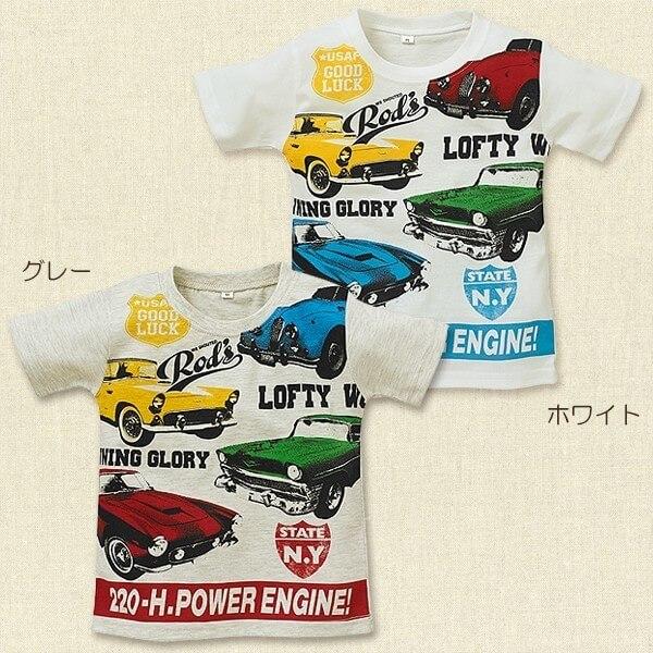 くるま英字プリント半袖Tシャツ,西松屋,子供服,